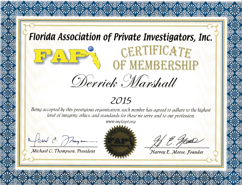 Florida Association of Private Investigators - Private Investigator - Orlando, FL - Springfield, MO